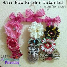 DIY Art & Crafts : DIY Hair Bow Holder