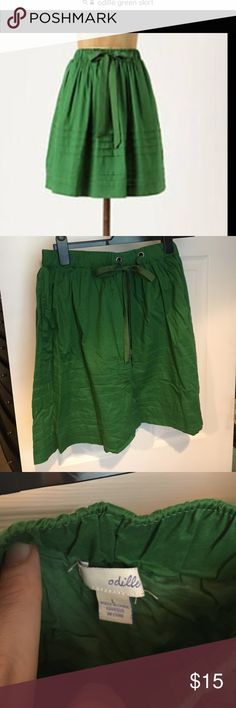 Odille green skirt with pockets Odille green skirt with pockets Anthropologie Skirts