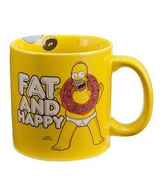 Look what I found on #zulily! 'Fat and Happy' Homer Simpson Mug by Vandor #zulilyfinds