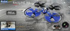 RC Quadrocopter Rayline R8 Wifi 2.4 GHz 4-Kanal 6-Achsen Drohne