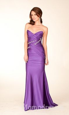 Embellished Sleeveless Lavender Sweetheart Natural Sheath Prom Dress Sale momodresses25975