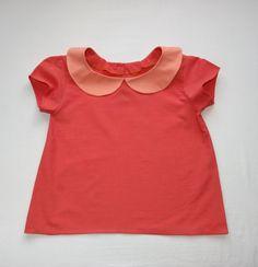 pink peter pan collar shirt