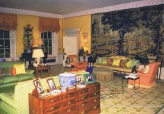 """Diana's formal """"reception"""" room in her KP apartment."""