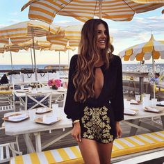 """The gorgeous @negin_mirsalehi wearing a romper from our Fall '15 Collection❤️"""