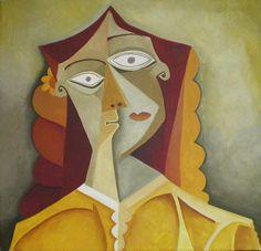 Retrato de mujer. Óleo sobre lienzo. Tamaño 50x50 cms. Año 2014