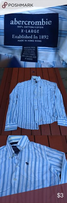 Abercrombie Button Up Flawed in color. XL Abercrombie. Blue and white striped. Abercrombie & Fitch Shirts