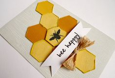get out that old CM hex punch and my new SC bee stamp for some major cuteness!! #card