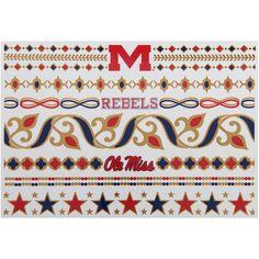 Ole Miss Rebels Metallic Fashion Tattoos - $11.99