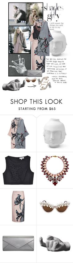 """""""SHADES OF GREY IN MY HEAD!"""" by mimicc ❤ liked on Polyvore featuring SANCHEZ, Marni, Jonathan Adler, Rachel Antonoff, Shourouk, A-Morir by Kerin Rose, Smythson, Areaware, Chanel and grey"""