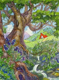 """Daily Paintworks - """"The Fairy Spring Storybook Cot..."""" by Alida Akers"""