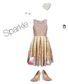 """""""Sparkle is my middle name"""" by unicorn106 ❤ liked on Polyvore featuring Matthew Williamson, Head Over Heels by Dune, MAC Cosmetics, River Island and Casetify"""