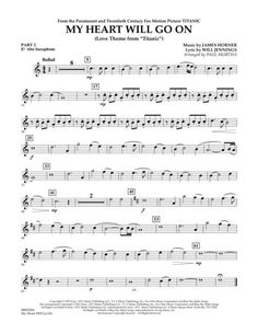 My Heart Will Go On (Love Theme from Titanic) - - Eb Alto Saxophone Saxophone Notes, Saxophone Music, Music Music, Alto Sax Sheet Music, Violin Sheet Music, Music Sheets, Titanic, Easy Piano Songs, Note Sheet