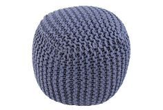 18 x18 x18  $179         Ella Knit Pouf, Blue on OneKingsLane.com