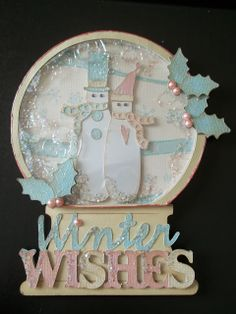 Time2Create.  Winter Woodland snowmen