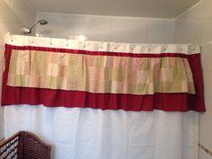 Cortina de baño con patchwork