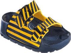 Birkis sandals Haiti in size 40.0 W EU made of Birko-Flor in Zebra Yellow with a regular insole