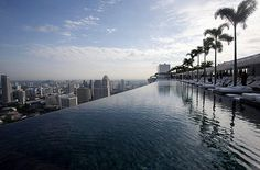 would love to stay in the hotel in Singapore, just watch out for the edge- Marina Bay Sands Hotel