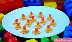 Construction cone snacks--I want to try using carrots instead