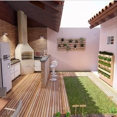 Newest Outdoor Kitchen Decoration Ideas To Make Cozy Kitchen - Garten/ Haus - Outdoor Kitchen Ideas Home And Garden, House Design, House, Outdoor Kitchen Design, Luxury Outdoor Kitchen, House Exterior, Backyard Decor, Rustic Inspiration, Outdoor Kitchen Decor