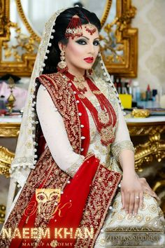 Bridal makeup by Naeem Khan, photography by Zeeshan siddique                                                                                                                                                      More