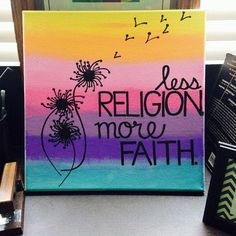 Inspirational Quote Hand-Painted 12x12 Canvas by TheDailyCanvas  #dailycanvas #religion #faith #spiritual #canvasart #canvas #religiousart #canvas #quotes #dailyquotes