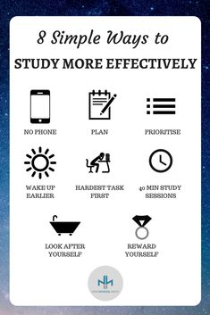 Little ways to study more effectively. Find more study tips at Highschoolhints.com #studytips #study