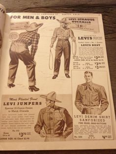 Levi Strauss Overalls A New Pair If They Rip. Vintage ad.