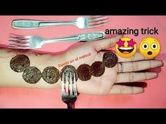 Most beautiful trick spoon 🥄 with cap letest mehndi design (holi special) Finger Mehendi Designs, Mehndi Designs Feet, Mehndi Design Photos, Mehndi Designs For Fingers, Beautiful Mehndi Design, Simple Mehndi Designs, Rangoli Designs, Mehendi Simple, Simple Henna