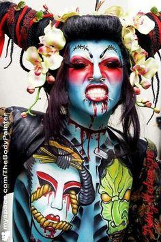 Body art and Makeup. Fantasy Art.