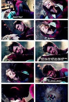 the death of the one and only gwen stacy, the amazing spiderman 2...we live we lose we grow strong!