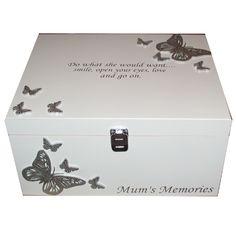 shabby chic personalised ltd In Memory of MUM ~ Very Large BEREAVEMENT Memory Box Mam Mummy or ANY NAME Memorial Loss