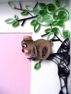 Quilling little bear by Qmono