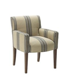 Versatile style meets plush comfort in our Fitzgerald chair, handcrafted by master furniture builders. Its clean and classic lines pair well with nearly any dining table and look equally at home in the living room or bedroom.    Sturdy kiln-dried hardwood frame, reinforced with double dowels and corner blocks.   Expertly upholstered with a welted edge.   Thickly padded with high-density foam.   Seat and back supported by durable woven rubber webbing.