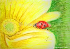 How to oil pastel a lady bird on a flower:  https://www.youtube.com/watch?v=cBZwAYAQs0s