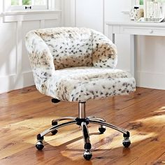 Snow Leopard Wingback Chair #pbteen  OH. MY. GOD. YES. PLEASE.