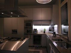 Kitchen Bulthaup B3Alluminium Stainless Steel and Persian-Travertino design by Lauro Ghedini