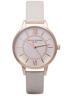 Olivia Burton Wonderland Watch - Mink   Rose Gold main image ddd33f82b2e