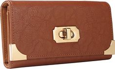 Arcadia USA Fashion Wallet metal Accessories And Turn lock XDW001BN * Click image for more details.