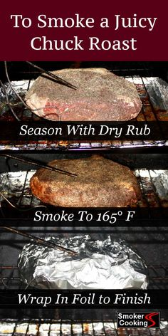 When smoking a chuck roast, be sure to pile on the flavor. Smoked low and slow, chuck roast takes hours, but wrapping in foil will reduce the cooking time. recipes Method For Smoking Chuck Roast That's Juicy and Fall-Apart Tender! Traeger Recipes, Smoked Meat Recipes, Beef Recipes, Cheap Recipes, Smoked Chuck Roast, Beef Chuck Roast, Smoked Beef Roast, Smoked Roast Recipe, Chuck Roast Grilled