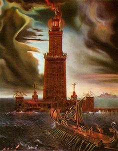 The Lighthouse at Alexandria - Salvador Dali