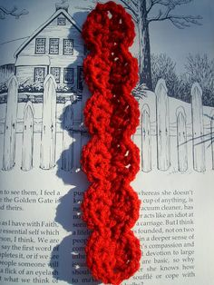 Scrap Yarn Crochet: bookmark