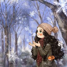 44 Ideas For Cute Children Illustration Heart Art Anime, Anime Art Girl, Manga Art, Art And Illustration, Book Illustrations, Fantasy Kunst, Fantasy Art, Forest Girl, Belle Photo