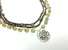 Wrap crochet necklace Bohemian'' Summer'' 2 by theflowerdesign, $48.00