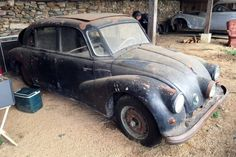 1948 Tatra Found In Virginia Vintage Cars, Antique Cars, Europe Centrale, Rusty Cars, Old Classic Cars, Abandoned Cars, Automotive Art, Barn Finds, Founded In
