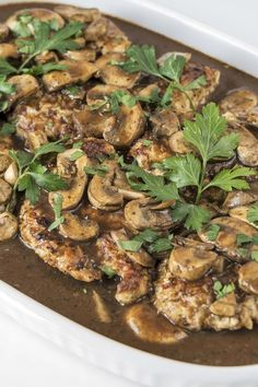 Skinny Chicken with Balsamic Vinegar, Garlic, and Mushrooms Recipe