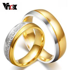 10pcs/lots wholesale AAA+ CZ couple engagement rings for love 18k gold plated wedding rings provide mix size