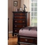 POUNDEX Furniture - Black Faux Leather Chest - F4530  SPECIAL PRICE: $499.00