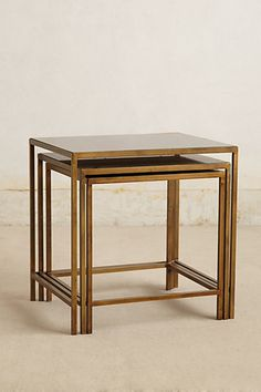 iron and glass nesting tables