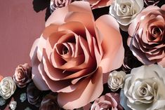 #florpaperstudio Giant Flowers, Rose, Plants, Pink, Roses, Planters, Plant, Planting, Pink Roses