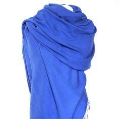 Cashmere & Silk Shawl cobalt blue